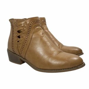BOUTIQUE by Corkys Ankle Boots Tan Back Zip